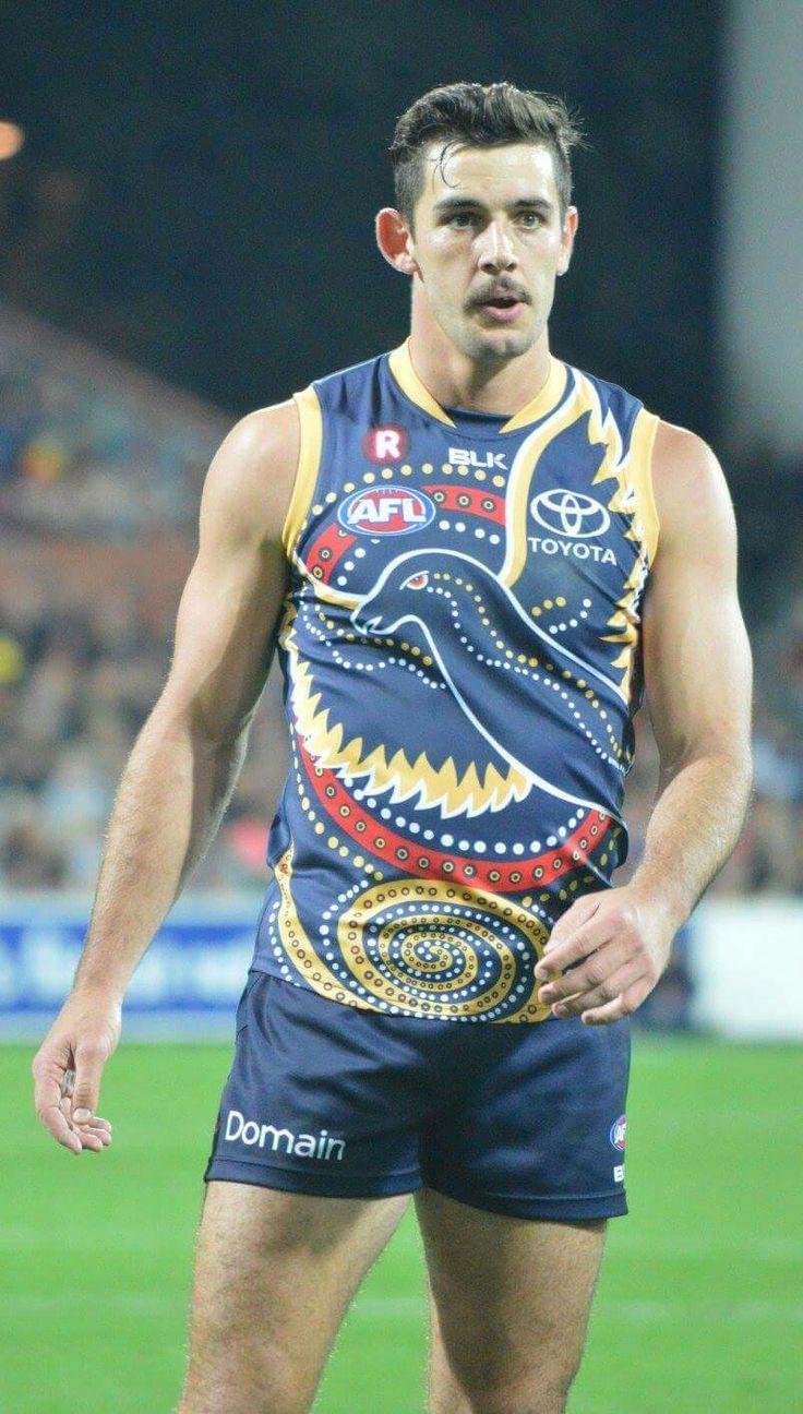 Tex Walker wearing the Indigenous Guernsey last night. He kicked 5 goals.