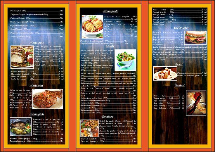 Flyers / Pliante Design - Catering leaflet / pliant - CoMas Advertising
