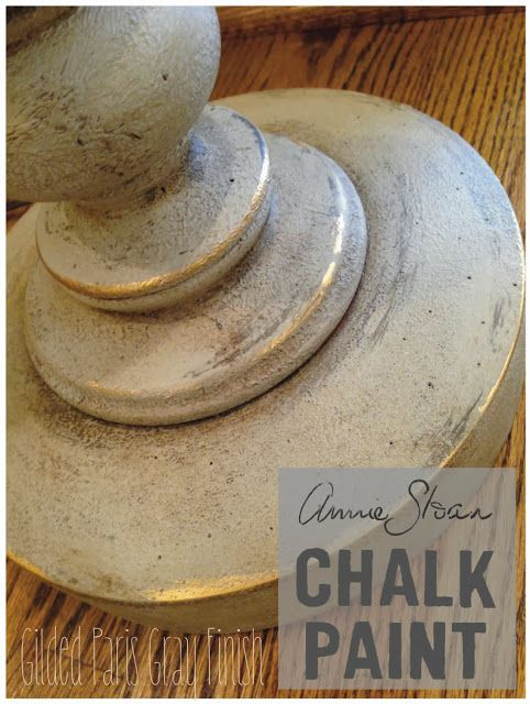 Annie Sloan Chalk Paint Gilded Paris Gray Finish from furniture {reincarnated}