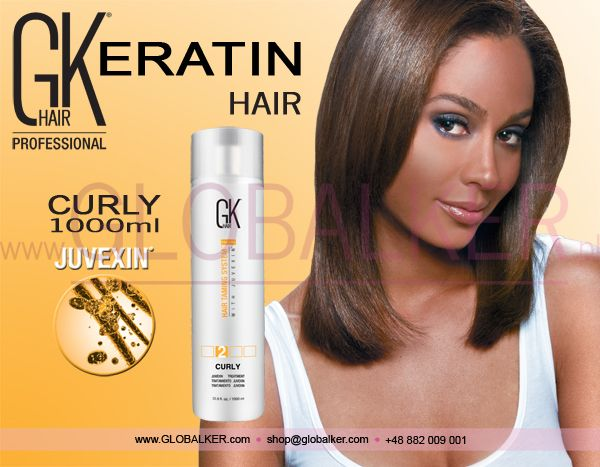 Keratin Hair GK Hair Curly 1000ml Global Keratin Juvexin
