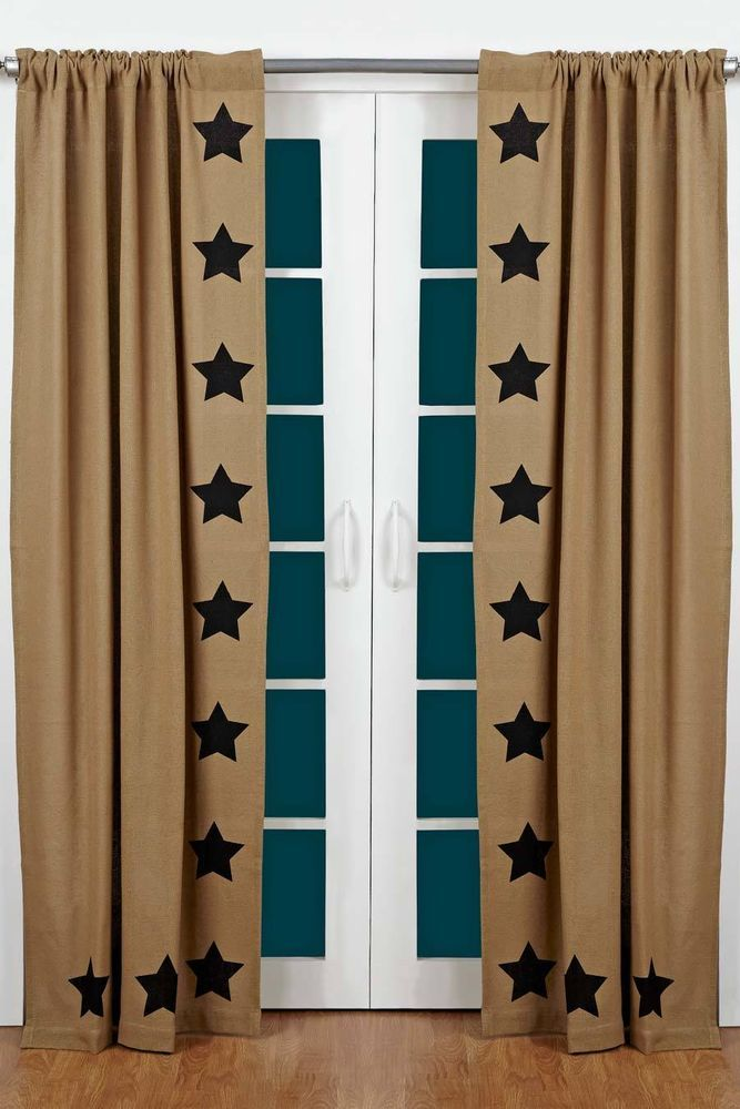 74 best Primitive window and shower curtains images on Pinterest ...