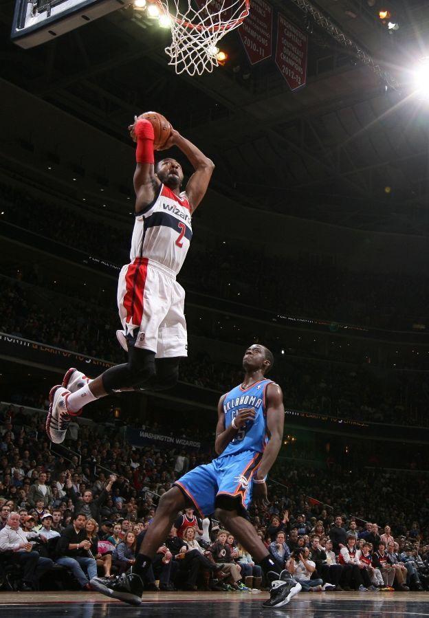 John Wall Dunks On OKC Washington Wizards Basketball
