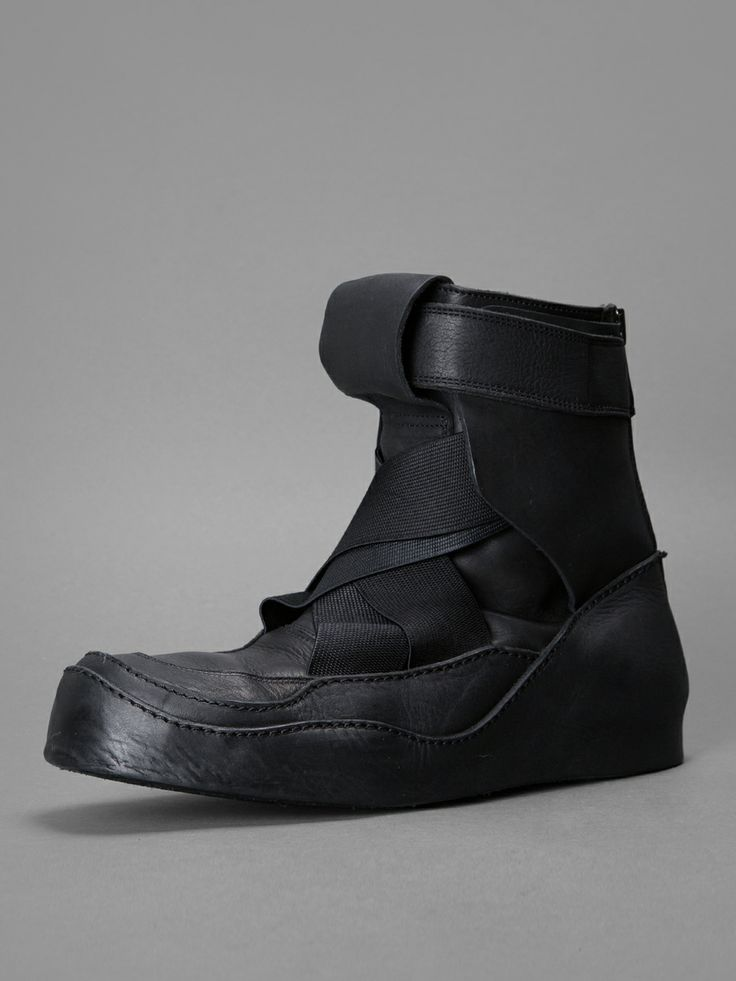 Calciamentis // Julius - high top trainers with buckled ankle and elastic  detail, internal