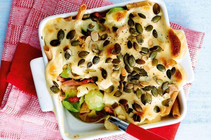 Ovenschotel met herfstgroenten en romige kaassaus - Recept - Allerhande