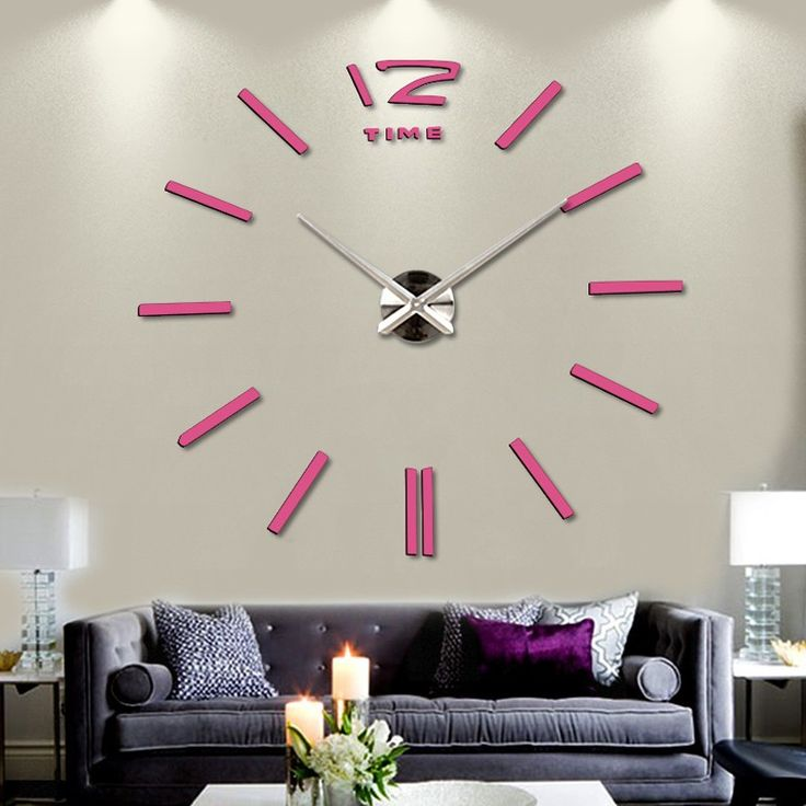 huge wall clock rushed for living dinning room