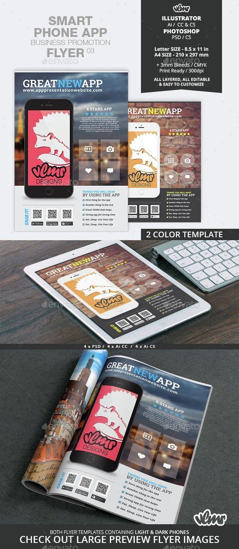 smart phone app business promotion flyer 03 flyers ideas
