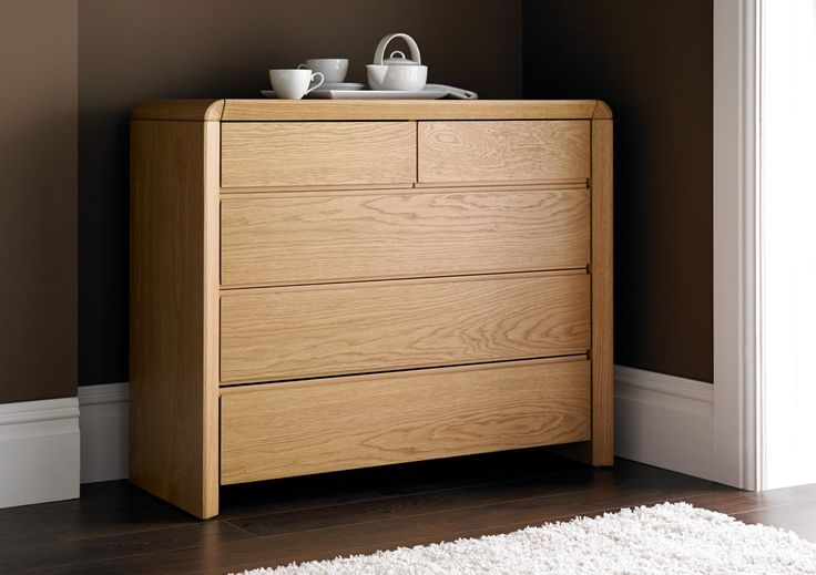 Arran Oak Finish 3 + 2 Chest - Chest of Drawers - Furniture