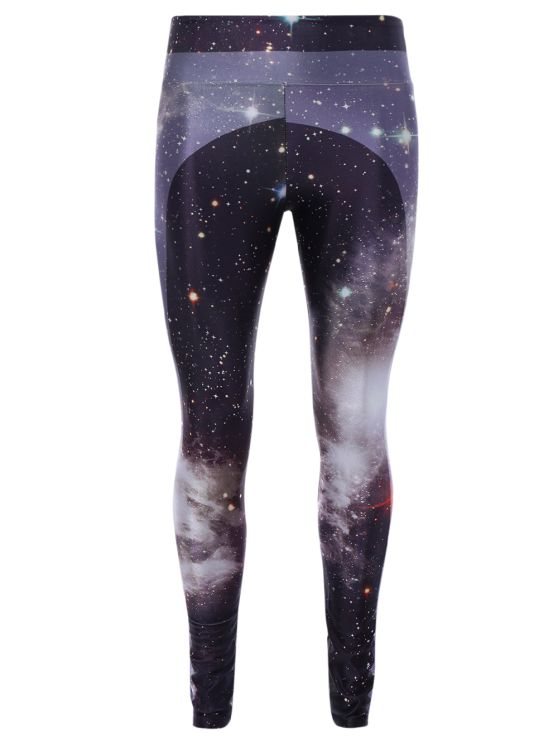 3D Starry Sky Print Skinny Gym Leggings - COLORMIX ONE SIZE
