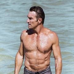 EXCLUSIVE Retired Australian Tennis champ Pat Cash cuts a ripped figure at 50