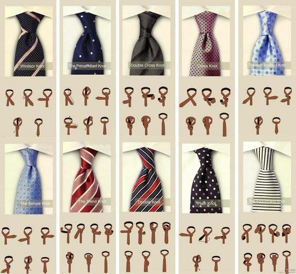 Un genial post donde nos enseñan a elaborar diferentes nudos de corbata. Novios e invitados del mundo, atentos a esto...