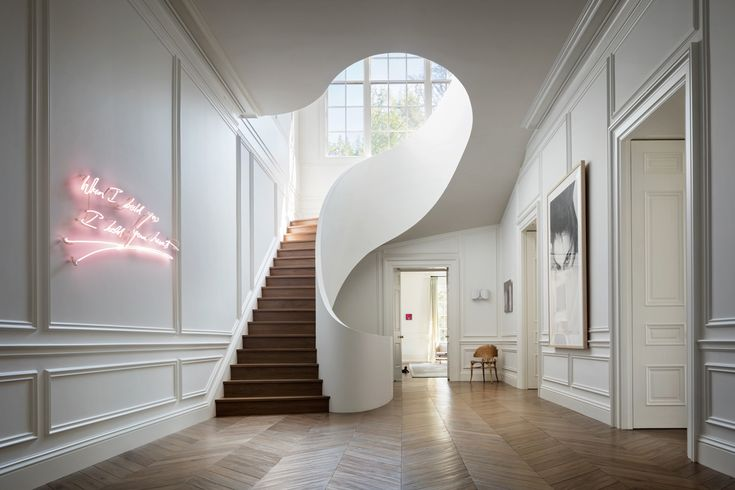 Sculptural Staircase by Steven Harris Architects