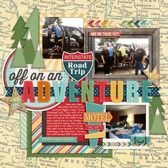 12 Awesome Scrapbook Pages with MAPS!                                                                                                                                                      More