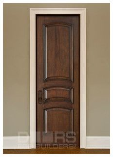 Rich looking interior door with white trim Custom Interior Doors - interior doors - chicago - by Doors For Builders Inc