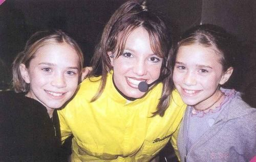 Brittany Spears and the Olsen Twins. I didn't realize there was such an age difference.