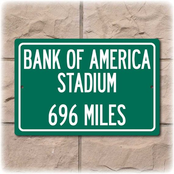 Bank of America Stadium Personalized Highway by Travelsigns, $19.95