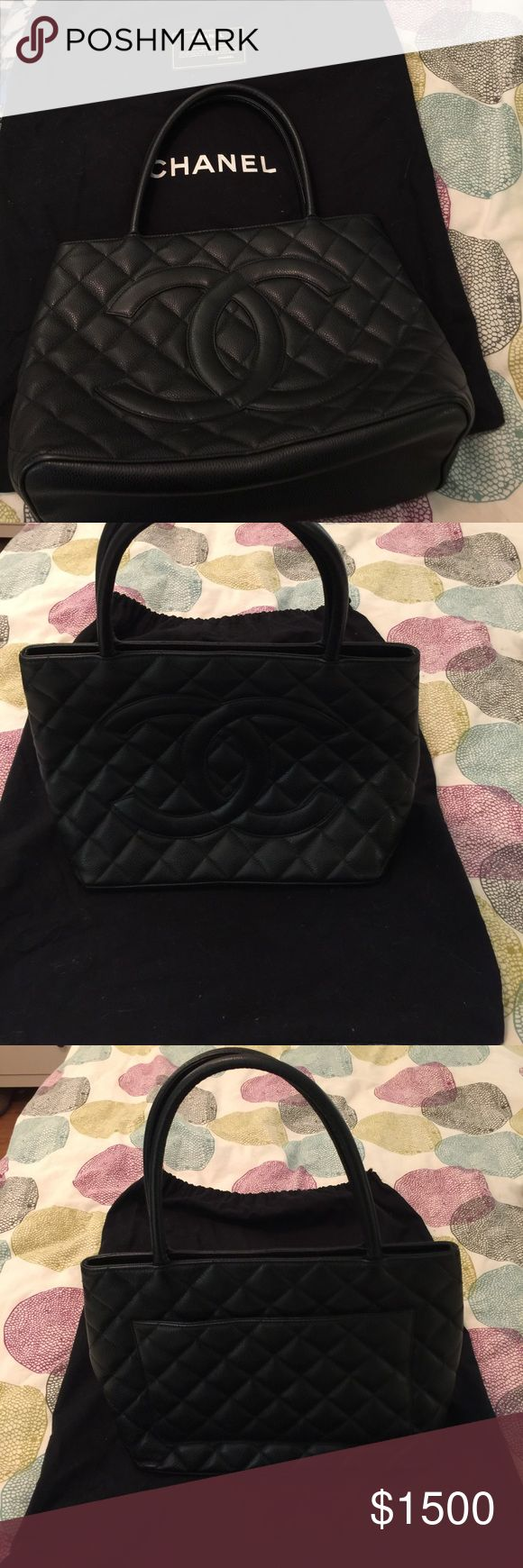 Authentic Chanel Bag Authentic Chanel Bag Black Leather, Pristine Condition. No markings or scratches. Included is card of authenticity and dust bag. Chanel Bags Totes