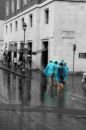 Reflection after the rain in Rome- coloursplash