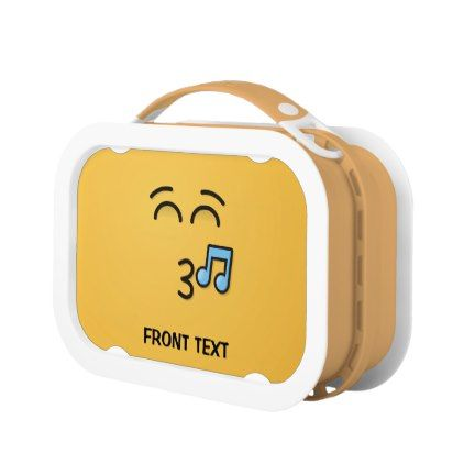 #Whistling Face with Smiling Eyes Lunch Box - #emoji #emojis #smiley #smilies