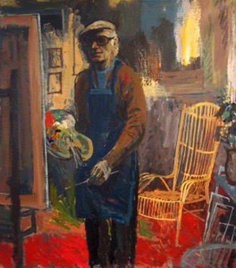 zelfportret van charles eyck in atelier