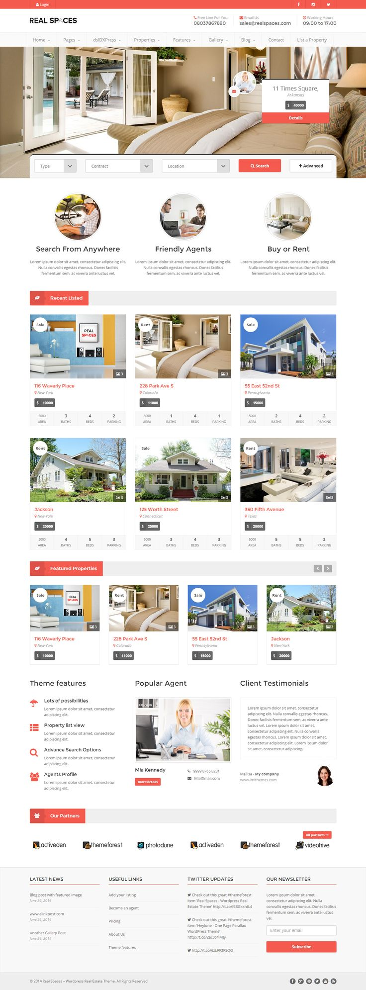 Real Spaces is Premium full Responsive WordPress Real Estate theme. Retina Ready. Bootstrap Framework. Isotope galleries. http://www.responsivemiracle.com/cms/real-spaces-premium-responsive-real-estate-wordpress-theme/