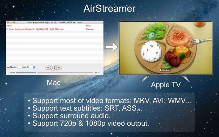 Air Streamer for Apple TV 1.6 for Mac 破解版 – 优秀的AirPlay视频流播放工具 | Digit77.com | 海量精品Mac应用下载 | 高质量3D模型商店