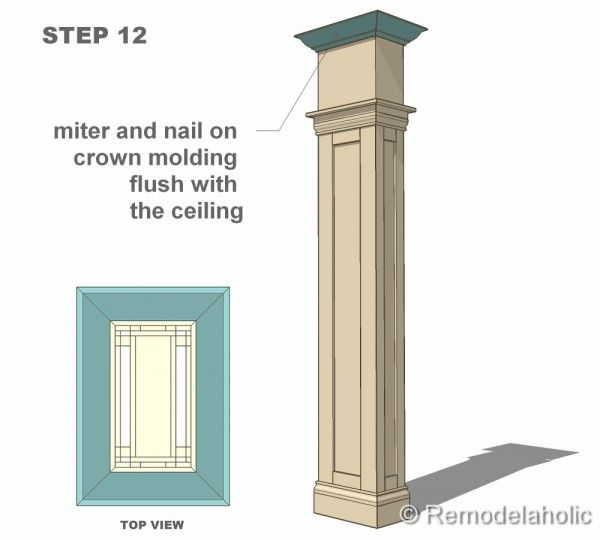 Free interior column plans interior columns cabinets for Column designs for interior