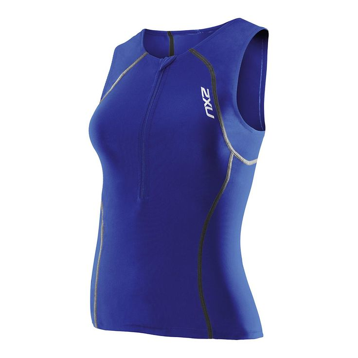 Built for exceptional comfort and durability, 2XUs Active Tri Singlet utilises SBR SKIN X fabric with 7D elastane for mild, long lasting compression plus SENSOR MESH X for ventilation