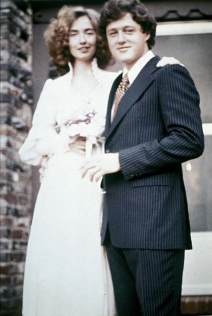 Oct 11, 1975: Bill Clinton marries Hillary Rodham