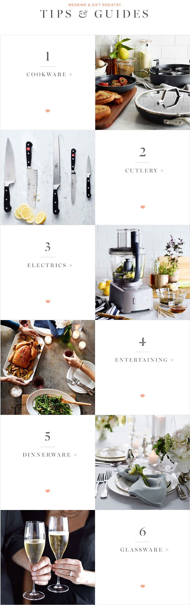 Registry Tips and Guides WilliamsSonoma Wedding tips