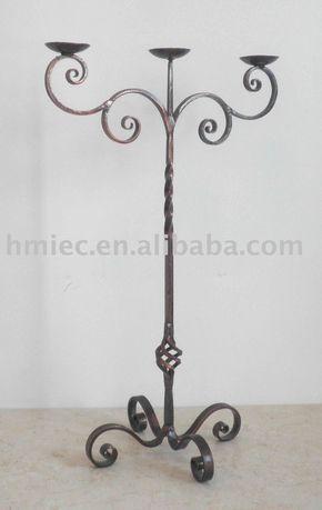 de hierro forjado de candelabros
