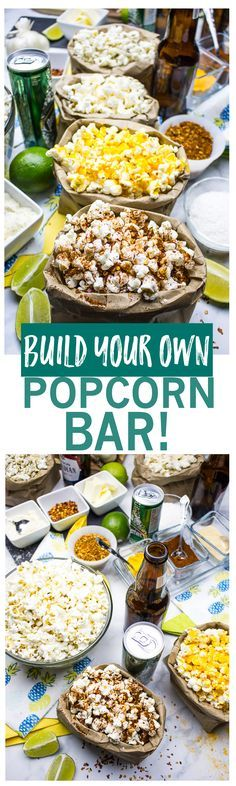 Build Your Own Popcorn Bar at Home! Such a fun idea for the weekend!