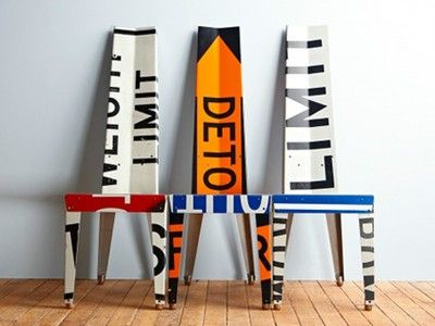 Recycled Road Sign Furniture by Boris Bally (Photos)