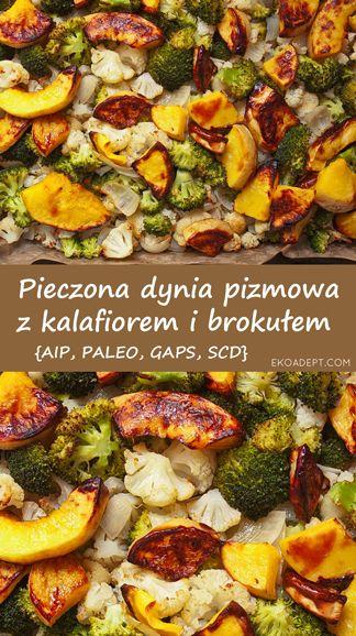 Pieczona dynia piżmowa z kalafiorem i brokułem {AIP, GAPS, SCD, PALEO}