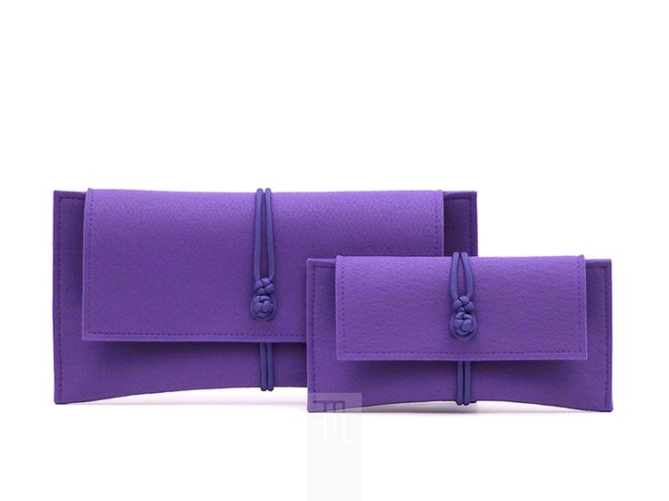 Borsette - mini pochette in feltro color viola - un prodotto unico di FMLdesign su DaWanda