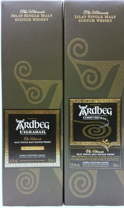 Catawiki online auction house: 2x ARDBEG whisky: Uigeadail