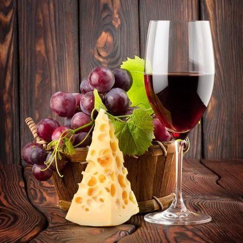 сыр,виноград,бокал вина