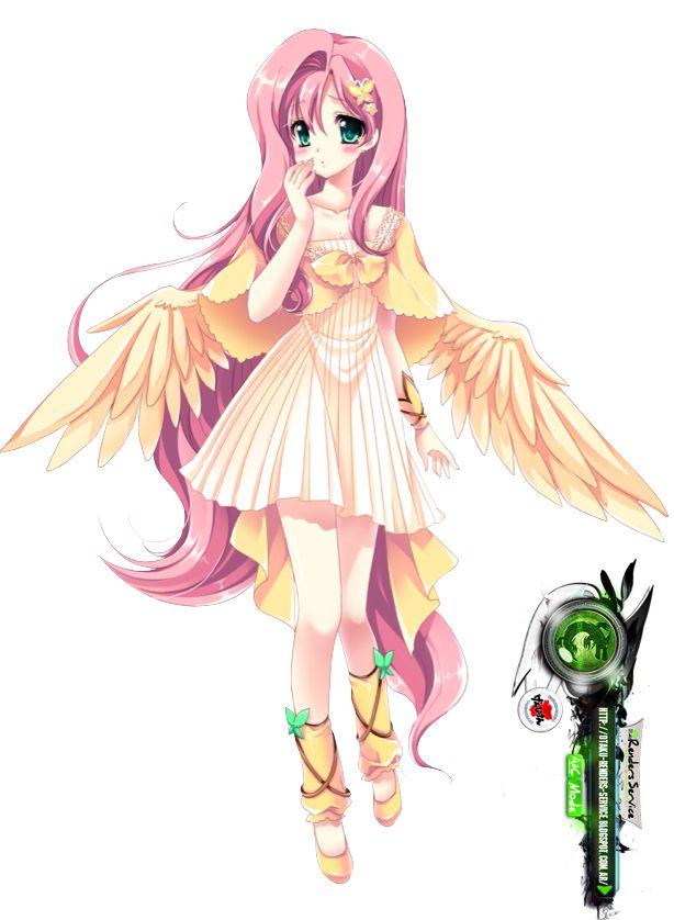 anime my little pony   My Little Pony Anime:Fluttersky Moe Render