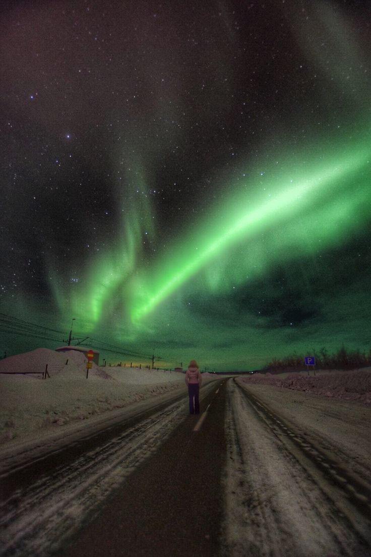 Kiruna in Sweden-Northern Light or Aurora Borealis. Photo: T.Paulzon