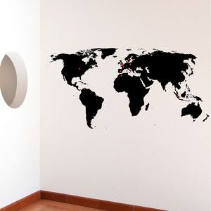 World Wall Sticker, 44€, now featured on Fab.