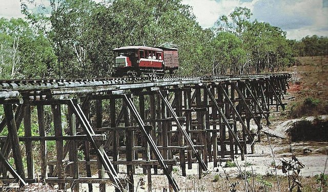 Last day of the Cooktown Laura line, far noth Queensland. Jim Powe photo 1960., via Flickr.