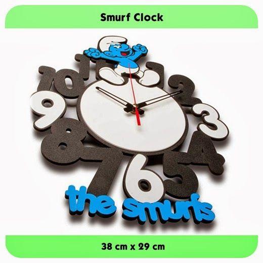 Smurf Clock - GALLERY JAM DINDING UNIK