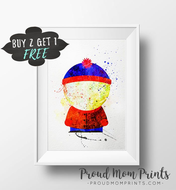 Printable Mtv Cartoon Animation Stan South Park South Park Character Personalize Art Park Art Unique Gallery Wall