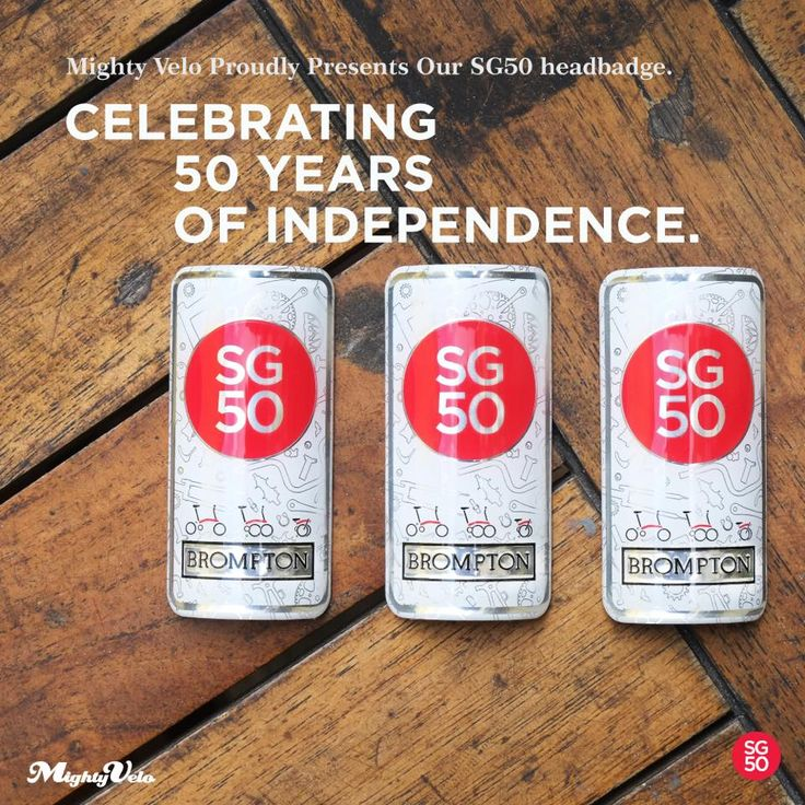 We are celebrating Singapore's 50 years of independence with our very own limited edition Brompton headbadge.  This is uniquely us.  Majulah Singapura! #mightyvelo #brompton