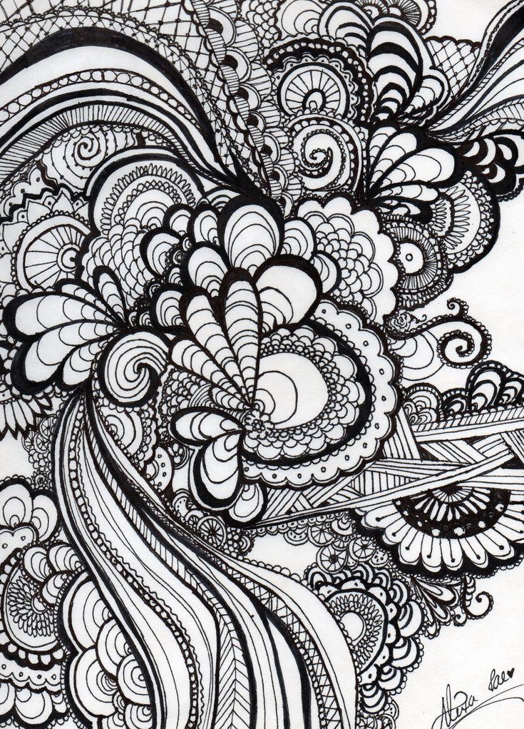 Sharpie by Alexa Gebhard | sharpie art ideas | Pinterest