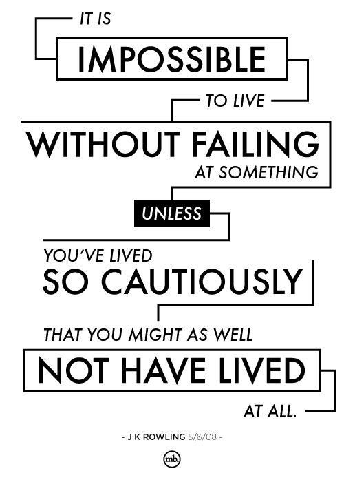 How you live matters! Do it well, with many mistakes.