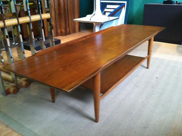 Danish Coffee Table With Surfboard Top At Mad Modern