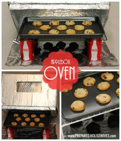 Have an oven even in an emergency. All you need is a box  foil. For more instructions on how to make one visit: www.PREPARED-HOUSEWIVES.com - #EmergencyPreparedness #AlternativeCooking #AppleboxOven