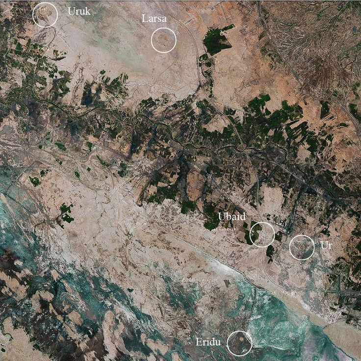 Five ancient Mesopotamian cities from space 222