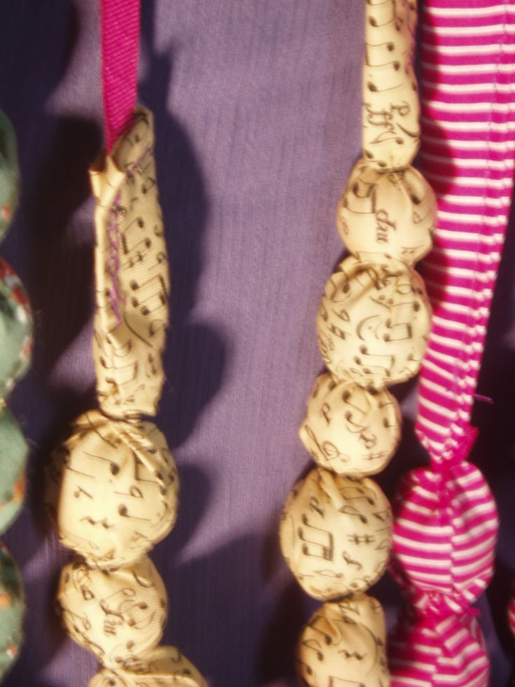 fabric necklaces... with sweet melodies