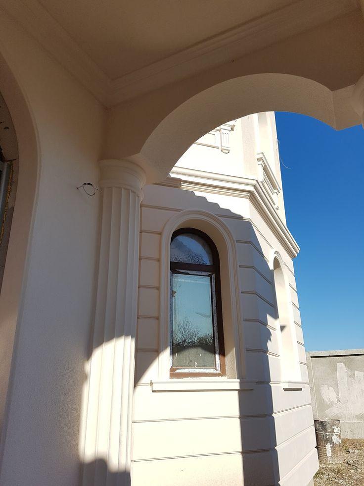 Jumatate de coloana decorativa din polistiren CoArtCo